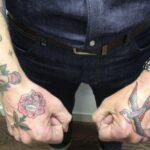 Zo vader zo dochter, maar niet als het om tatoeages gaat